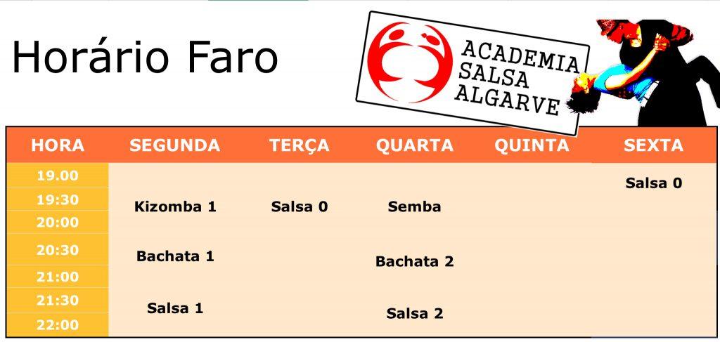 Horário da salsa em Faro